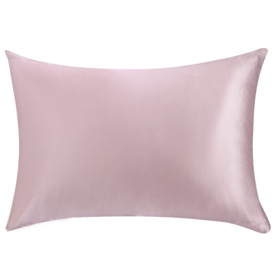 pink silk pillowcase